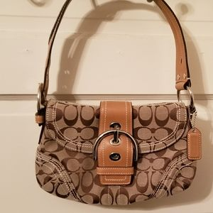 Signature Soho Coach | Brown with Tan Piping